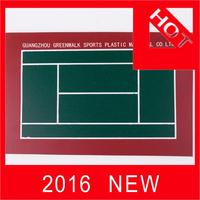 Plastic rubber flooring for outdoor basketball & tennis courts acrylic pu tennis court with high quality