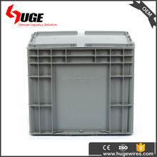 Warehouse Plastic Stackable Storage Bins / Packing Box With Lid