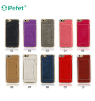Ultra Thin Lighter Leather Card Slots Back Phone Case For iPhone 6 Plus