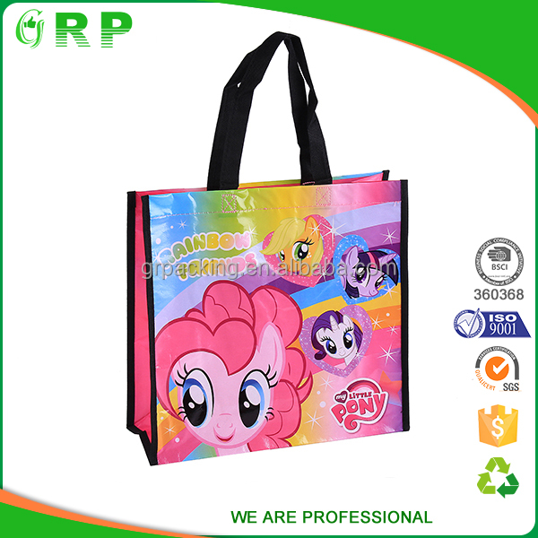 Promotional pp non woven custom printed recycle grocery bag