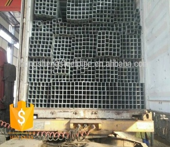 Made in China 50*25mm pre galvanized rect steel tube with 20ft