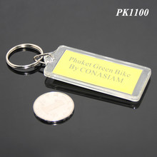 Rectangle Shape Insert PMMA Frame Thailand Bangkok Bike Shop Advertisement Custom Logo Acrylic Keychains