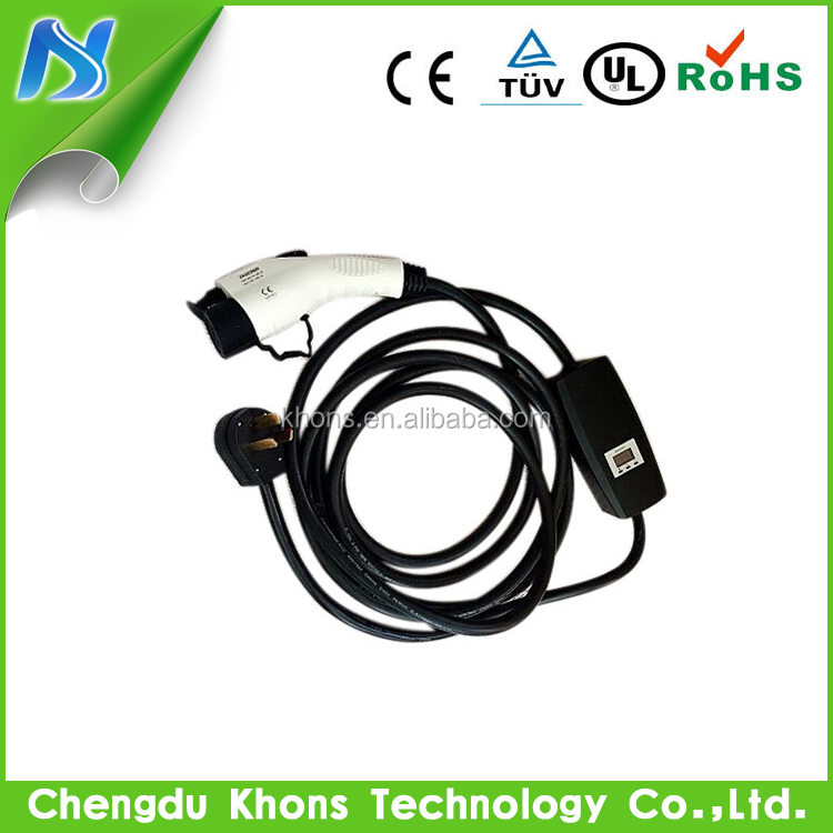 32A 16A SAE J1772 EV Portable Chargers type 1 ev charger level 2 SAE J1772 portable ev charger SAE CONNECTOR J1772