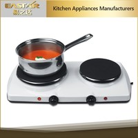 Kitchen applience 2 burner solar electric stove built-in countertop hot plates , electric cooker portable hot plate for sale