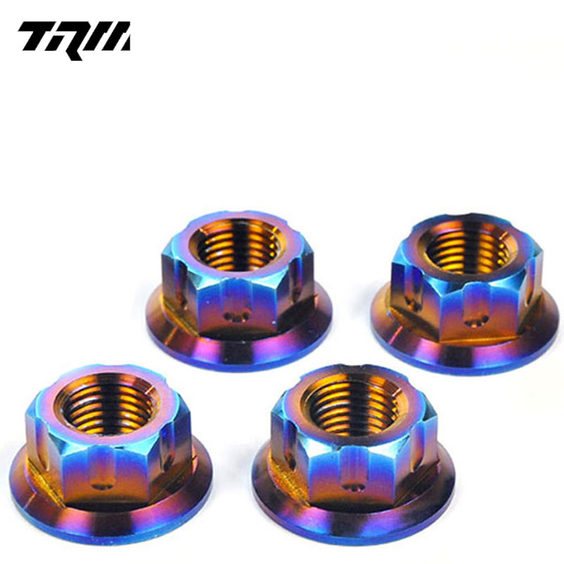 <strong>M10</strong> Din6923 titanium flange nut for motorcycle car