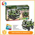 plastic block helicopter military vehicle series game for 6 age up kid