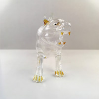 blown glass animals tiger shape decoration creative design wine bottle
