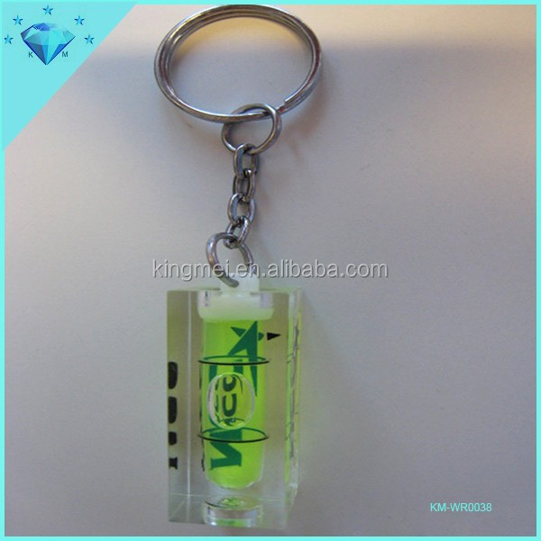 Acrylic oil drop clear keychain paperweight