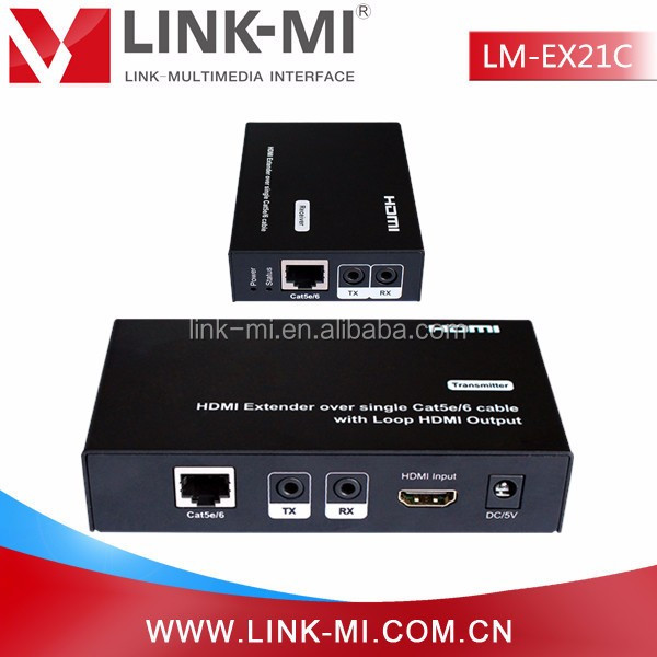 LINK-MI LM-EX21C HDMI Extender 50M over single Cat5e/6 with Loop HDMI Output( Local HDMI Out)Suppor