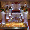 Tall Square Crystal Column Wedding Walkway