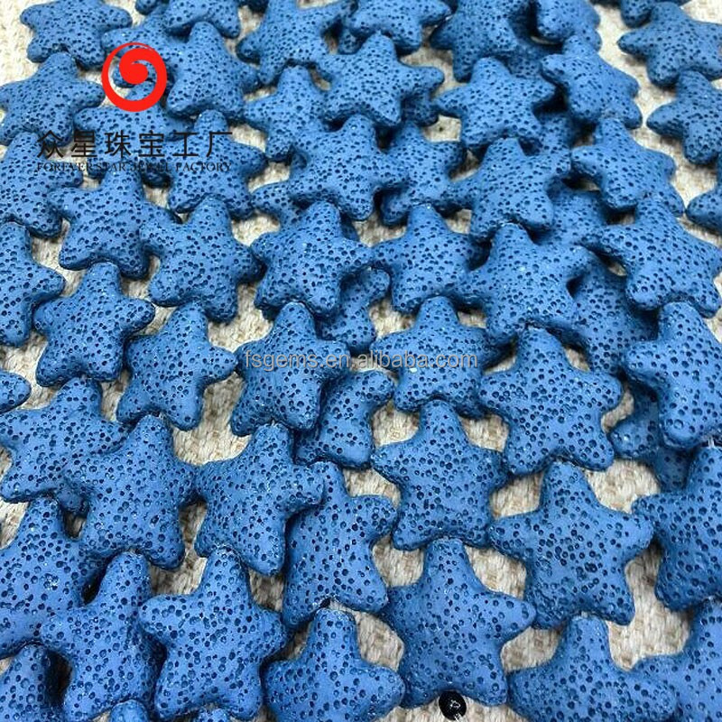 New Arrivals Gemstone Multicolor Starfish Lava Rock Lava Beads