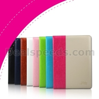 Kakusiga Shine Series Dual Color Stand Leather Flip Cover Case For iPad Air 2/iPad 6