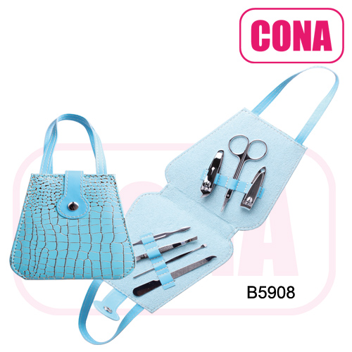 Fashion cute milk cow 5pcs manicure kit