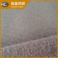 polyester spandex knitted heather grey fleece ottoman fabric for outdoor labour protection gloves