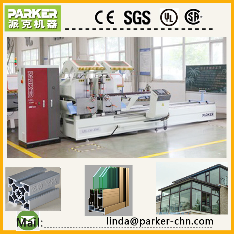 double head mitre saw for aluminum cnc aluminum profile cutting saw machine automatic sawing machine - PARKER