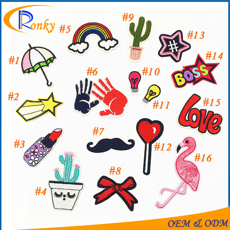 Creative DIY project rainbow beautiful patches embroidery for restyle clothes