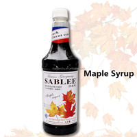 SABLEE maple flavor syrup for beverage drinks with HALAL QS 900ml