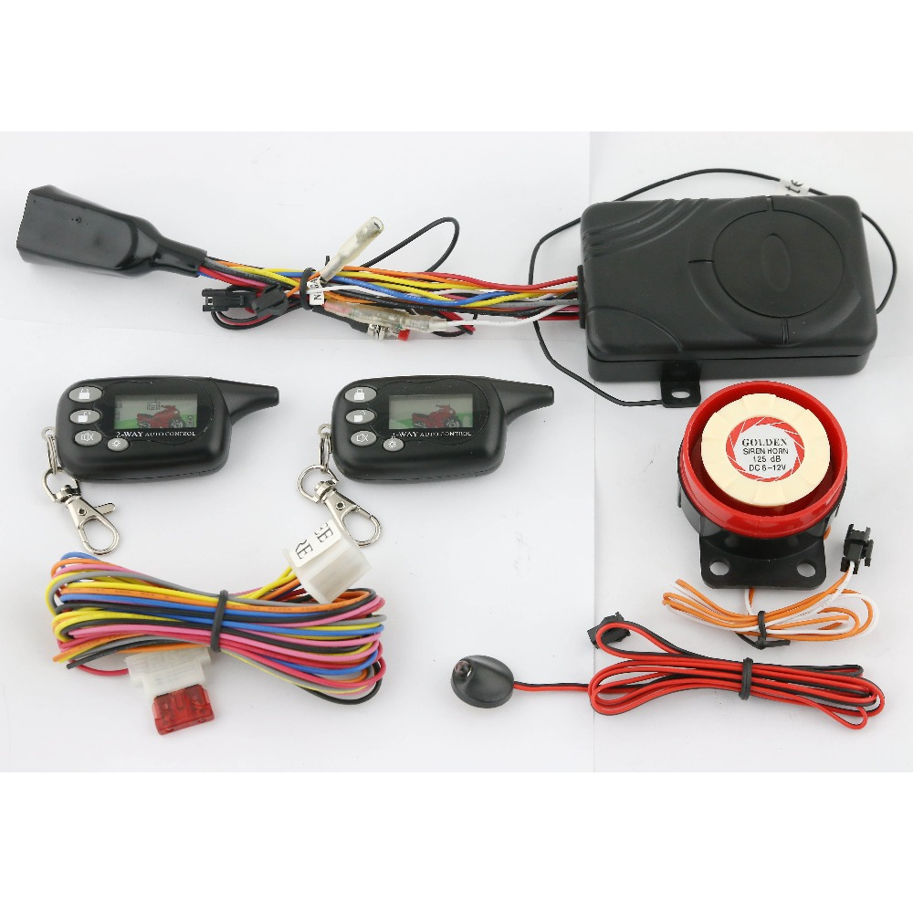 HUATAI 2 way 3000m motorcycle alarm with remote start <strong>shock</strong> warning <strong>HT</strong>-2005B