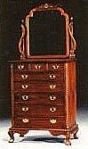 Chippendale 8 Drawers Dresser & Mirror