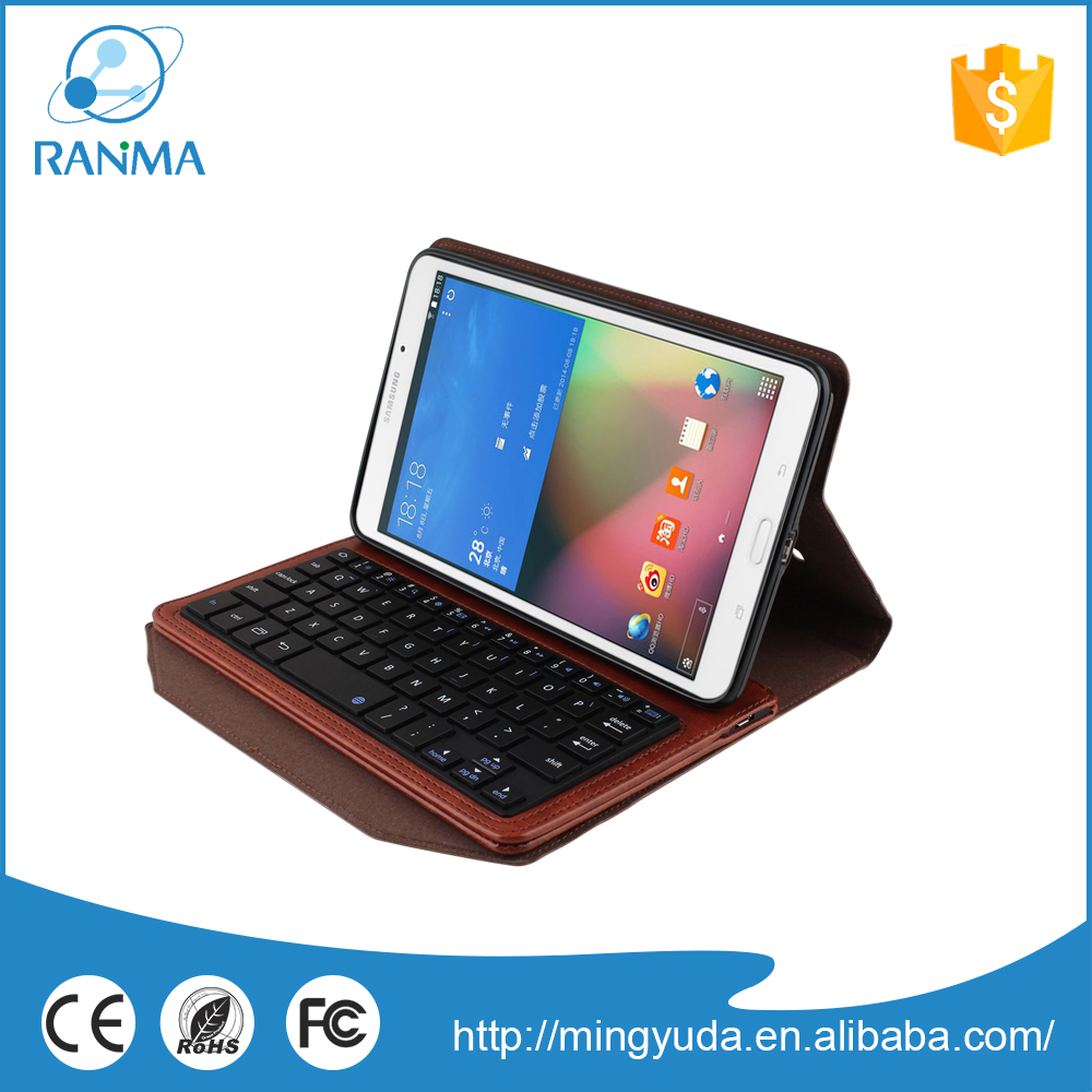 Detachable universal wireless bluetooth keyboard pu leather case for samsung Tab 4