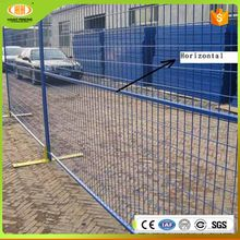 Alibaba ce certification powder coated low carbon and pvc coated retractable temporary fence