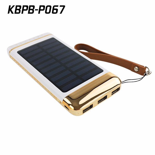 Sinobangoo Solar Charger USB power bank with LED