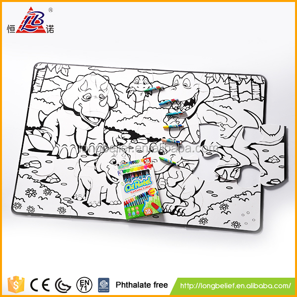 Best choose crayon painting dinosaur puzzle
