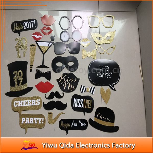 wholesale 2017 happy new year photo booth props