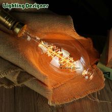 Antique giant light bulb BT118 Spiral filament design 40W 60W incandescent light bulb 110V/130V 220/240V E26 E27
