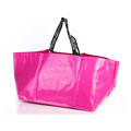 Wholesale glossy laminated jumbo boat style pp woven shopping bag