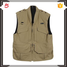 2017 Cheap custom fishing vest with multi pocket