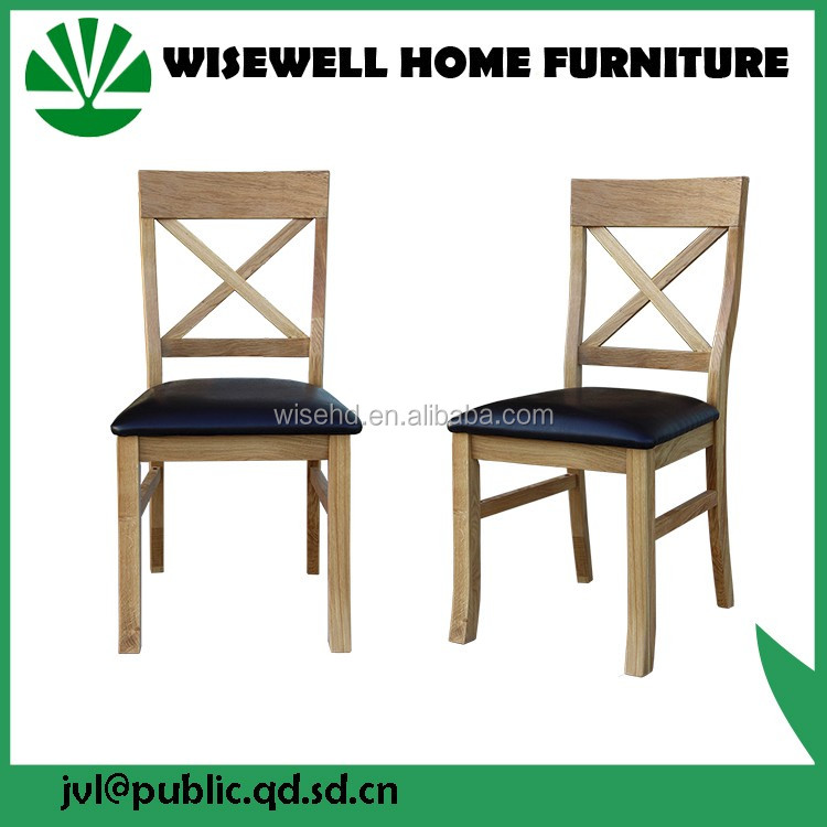 (W-C-432) oak wood dining chair with PU seat