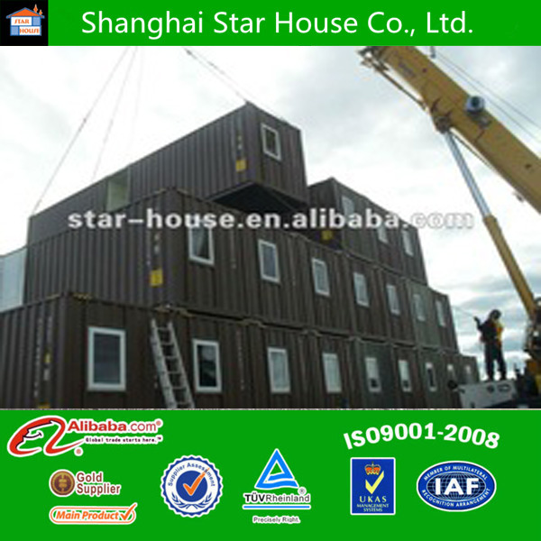 Movable two storeys container house manufacturer