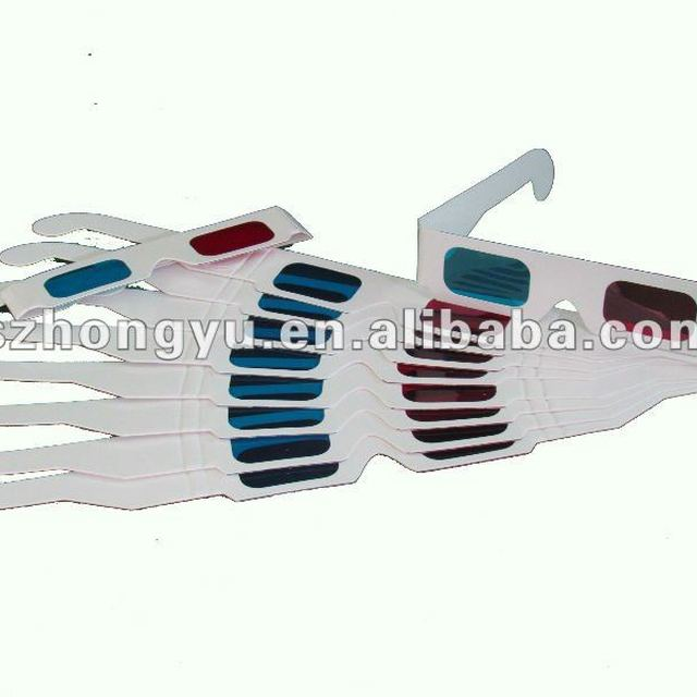 4 color printing red cyan paper 3D glasses 3d paper glasses