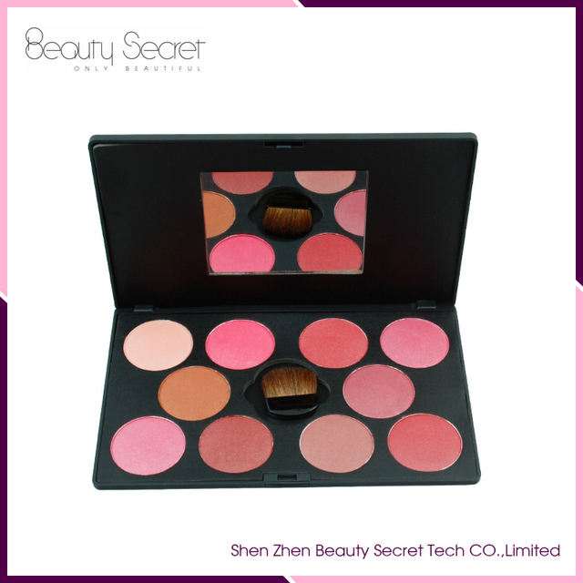 kiss beauty blusher palette 10 colors Multicolor iridescent high quality cosmetics