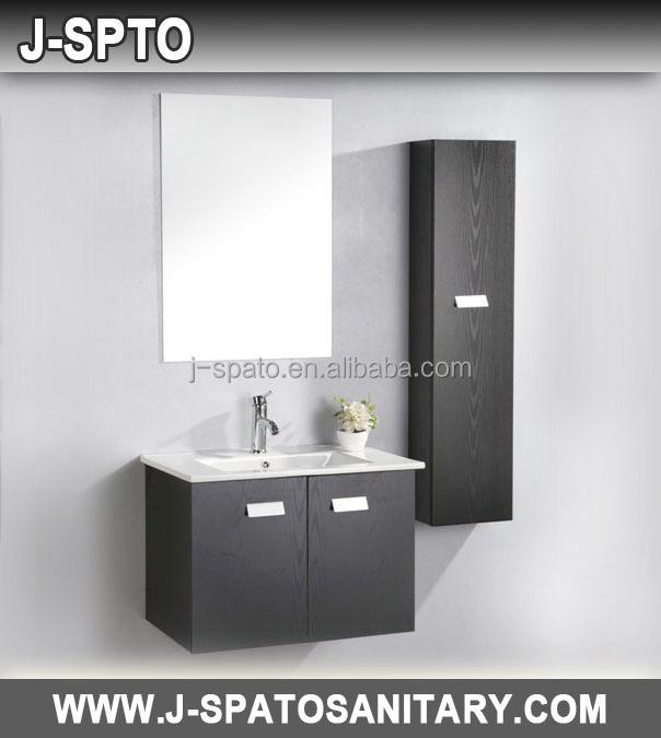 Mdf& Pvc Cupboard Bathroom Wash Basin Cabinets With Cultured ...