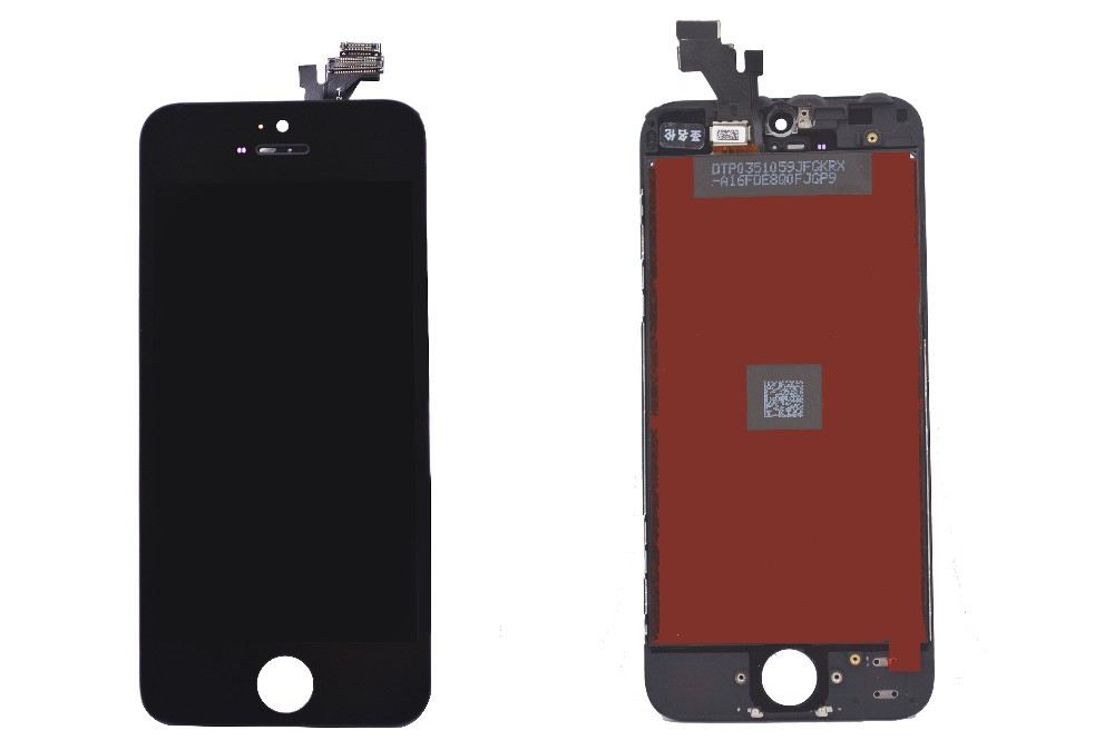 LCD Display Touch Screen Digitizer Assembly with Frame Replacement Cell Phone Parts for IPhone 5 5G (Black)