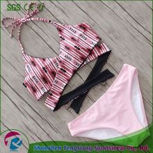 2017 Summer Best Selling Girl Pink Latest Sexy Girls Extreme Bikinis For Sale