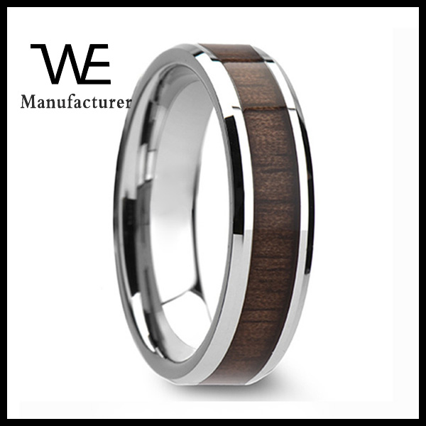 Professional Manufactory Stainless Steel Secret Wood Rings For Men