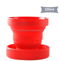 Cheap silicone rubber folding cup for kids