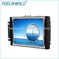 Open frame LCD monitor 4:3 with metal case and frameless design for security control