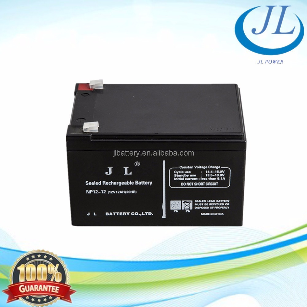High quality 12 v 12ah ups cell battery solid lead crystal battery