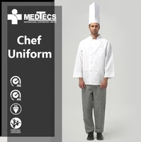 Polyester Custom chef wear restaurant uniform kitchen catering clothing