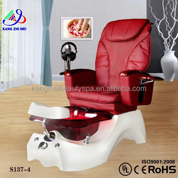 Foot spa pipeless jet motor for pedicure spa massage chair/pedicure chair remote control/spa pedicure chair foot rest KM-S137-4