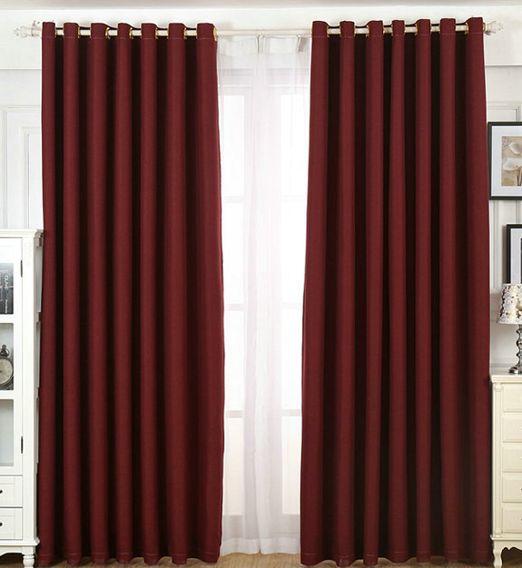 Cheap professional manufacturer striped plain cotton line curtain