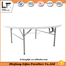 6ft round fold cheap plastic picnic tables and chairs for restaurant
