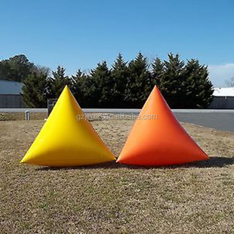Inflatable Triangle Tetrahedron Swim Tube Water Buoys Makers