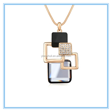Magic space - Korean geometric crystal sweater chain fashion jewelry long necklace female crystal jewelry wholesale