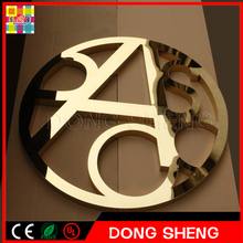 guarantee led stainless steel letter channel or 3d sign sample backlit