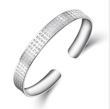 The buddhist sutra is made of silver bracelet with lady engraved silver bracelet